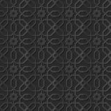 Seamless 3D elegant dark paper art pattern 298 Polygon Cross Flower Stock Photography