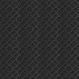 Seamless 3D elegant dark paper art pattern 340 Round Cross Flower. Antique black paper art retro abstract seamless pattern background Stock Illustration