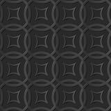 Seamless 3D elegant dark paper art pattern 043 Round Cross Frame Royalty Free Stock Photography