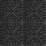 Seamless 3D elegant dark paper art pattern 358 Round Cross Geometry Royalty Free Stock Images