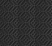 Seamless 3D elegant dark paper art pattern 312 Round Curve Flower Royalty Free Stock Photo