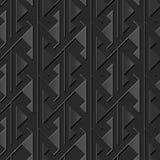 Seamless 3D elegant dark paper art pattern 365 Sawtooth Triangle Geometry Royalty Free Stock Photography