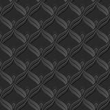 Seamless 3D elegant dark paper art pattern 108 Scale Curve Line Royalty Free Stock Images