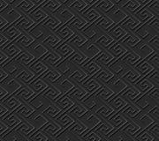 Seamless 3D elegant dark paper art pattern 351 Spiral Geometry Line Stock Photography