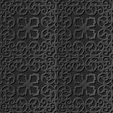 Seamless 3D elegant dark paper art pattern 158 Spiral Kaleidoscope Royalty Free Stock Photos