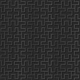 Seamless 3D elegant dark paper art pattern 333 Spiral Rectangle Geometry Royalty Free Stock Photos