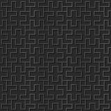 Seamless 3D elegant dark paper art pattern 333 Spiral Rectangle Geometry. Antique black paper art retro abstract seamless pattern background royalty free illustration