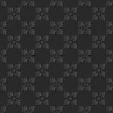 Seamless 3D elegant dark paper art pattern 173 Square Cross Flower Stock Images