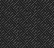 Seamless 3D elegant dark paper art pattern 310 Square Cross Spiral Royalty Free Stock Photo