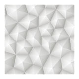 Seamless 3d geometric abstract vector white texture with low pol Royalty Free Stock Photography