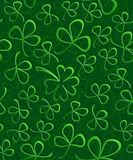 Seamless 3D green paper cut Pattern Clover for St Patrick`s Day, Shamrock wrapping paper, ornament clover foliage Stock Photos