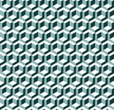 Seamless 3d isometric cube pattern background texture. Wallpaper stock illustration