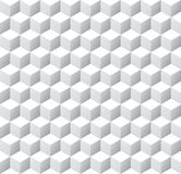Seamless 3d isometric cube pattern background texture. Wallpaper vector illustration