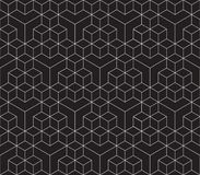 Seamless 3d isometric cube pattern background texture. Wallpaper Royalty Free Illustration