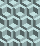 Seamless 3D  pattern. 3D abstract Cubes, seamless pattern illustration vector Stock Photography