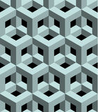 Seamless 3D  pattern. 3D abstract Cubes, seamless pattern illustration vector Royalty Free Stock Image