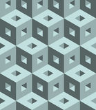 Seamless 3D  pattern. 3D abstract Cubes, seamless pattern illustration vector Royalty Free Stock Photos