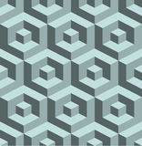 Seamless 3D  pattern. 3D abstract Cubes, seamless pattern illustration vector Stock Photos