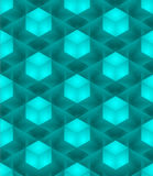Seamless 3D  pattern. 3D abstract Cubes, seamless pattern illustration vector Royalty Free Stock Photography