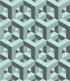 Seamless 3D  pattern. 3D abstract Cubes, seamless pattern illustration vector Royalty Free Stock Images