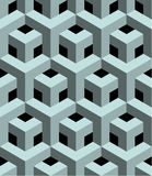 Seamless 3D  pattern. 3D abstract Cubes, seamless pattern illustration vector Stock Images