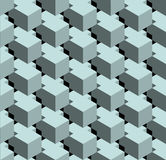 Seamless 3D  pattern. 3D abstract Cubes, seamless pattern illustration vector Stock Photo