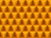 Seamless 3d pattern. Seamless golden 3d pattern made of cubes Stock Images
