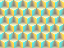 Seamless 3d pattern. Made of cubes Royalty Free Stock Photography