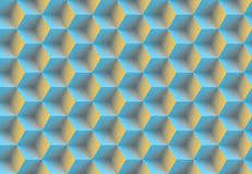 Seamless 3d pattern. Made of cubes Royalty Free Stock Photo