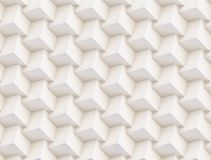 3D pattern made of white and beige geometric shapes. Seamless 3D pattern made of white and beige geometric shapes, creative background or wallpaper surface made vector illustration