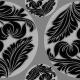 SEAMLESS VECTOR PATTERN DESIGN BACKGROUND 3D EFFECT. Seamless 3D pattern, natural floral pattern, . Endless texture can be used for wallpaper, pattern fills, web Royalty Free Stock Image