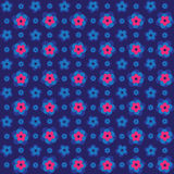 Seamless 3d pink colourful embossed flower background pattern. Royalty Free Stock Photography