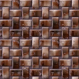 Seamless 3d relief pattern of brown blocks with wooden structure Stock Photo