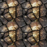 Seamless 3d relief pattern of dewy stones with water drops Stock Photos