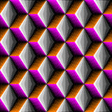 Seamless 3d Rhombus Pattern. Vector Volume Background Royalty Free Stock Image