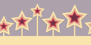 Seamless 3d stars Border Royalty Free Stock Photos