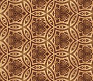 Seamless 3D wall-paper, with the abstract drawing, brown. Beautiful background, basis for design Stock Images