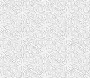 Seamless 3D white pattern, floral pattern, indian ornament, persian motif. Seamless 3D white pattern, floral pattern, indian ornament, persian motif,  vector Stock Photo