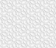Seamless 3D white pattern, floral pattern, indian ornament, persian motif,  vector. Endless texture can be used for wallpaper, pat. Tern fills, web page Royalty Free Stock Images