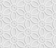 Seamless 3D white pattern, floral pattern, indian ornament, persian motif. Endless texture can be used for wallpaper, pattern fills, web page  background Royalty Free Stock Photos