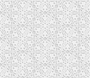 Seamless 3D white pattern,  indian ornament, persian motif,  vector. Endless texture can be used for wallpaper, pattern fills, web page  background,  surface Stock Photography