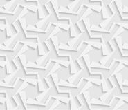 Seamless 3D white pattern,  indian ornament, persian motif,  vector. Endless texture. Can be used for wallpaper, pattern fills, web page  background,  surface Stock Photo