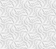 Seamless 3D white pattern,  indian ornament, persian motif,  vector.. Seamless 3D white pattern, indian ornament, persian motif,  vector. Endless texture can be Stock Photo