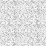Seamless 3D white pattern,  indian ornament, persian motif,  vector. Endless texture can be used for wallpaper, pattern fills, web. Page  background,  surface Stock Photos