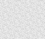 Seamless 3D white pattern, indian ornament, persian motif,  vector. Endless texture can be used for wallpaper, pattern fills, web Royalty Free Stock Images