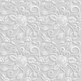 Seamless 3D white pattern, natural  floral pattern, vector. Endless texture can be used for wallpaper, pattern fills, web page  ba Royalty Free Stock Image