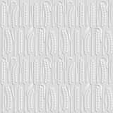 Seamless 3D white pattern, natural pattern wheat field, vector.   Stock Image