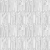 Seamless 3D white pattern, natural pattern wheat field, vector.. Seamless 3D white pattern, natural pattern wheat field, vector. Endless texture can be used Stock Image