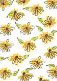Seamless daisy pattern Royalty Free Stock Photos