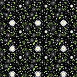 Seamless daisy pattern Stock Photo
